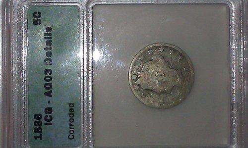 1886 Liberty V Nickel