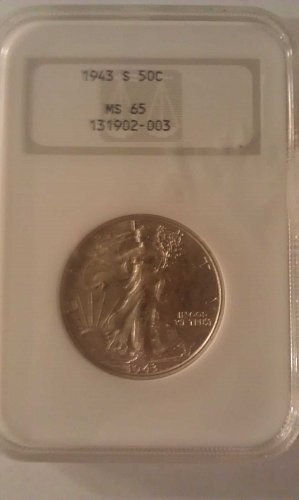 1943 s Walking Liberty Half Dollar Graded MS65 by NGC