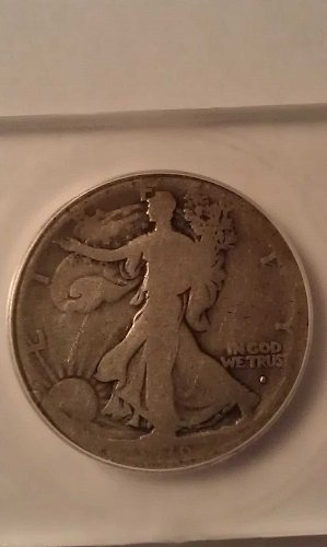 1916 S Obverse Walking Liberty Half Dollar
