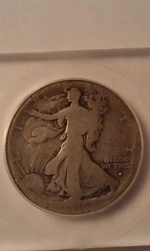1916 S Obverse Walking Liberty Half Dollar