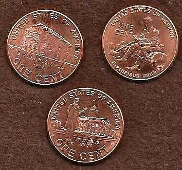3 Penny 2009 Set - 3 varieties of pennies per set