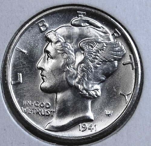 194I S MERCURY DIME MS65FSB FROM A GEM ORIGINAL ROLL