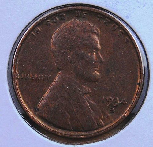 1934 D LINCOLN CENT NICE BROWN UNC MUCH BETTER DATE