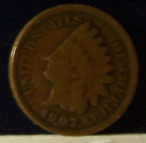 1907 Indian Head Small One Cent