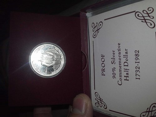 1982-S George Washington 250th Birthday 90%silver