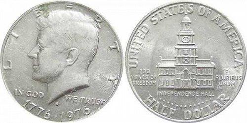 Bicentennial John F Kennedy Half Dollars D