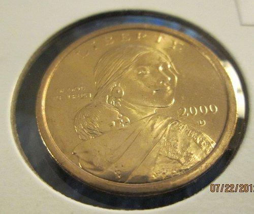 2000 D Sacagawea Dollars Uncirculated
