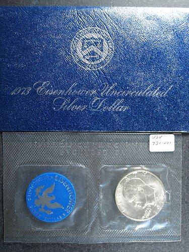 1973 S Eisenhower Dollars: Silver