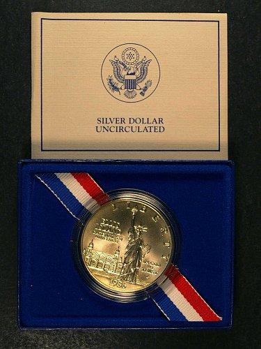 1986 Ellis Island Liberty Silver Dollar