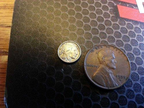1938 US Buffalo Nickel  (Miniature)