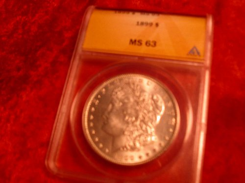 1899 P Morgan Dollar Graded MS63 Vam 6 R-3