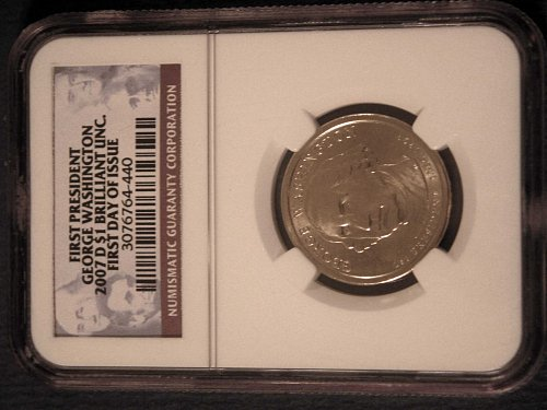 2007-D Washington Dollar ** NGC Cretified BU 1st Day Issue **