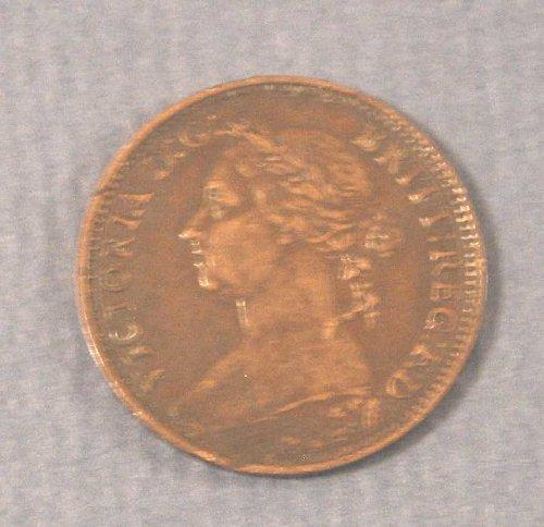 1881 Queen Victoria Half Penny