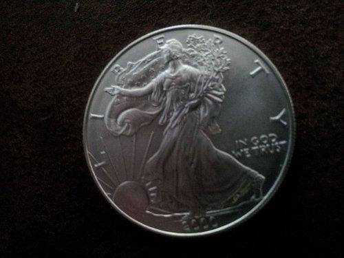 2-2000 silver eagle 1oz 99.9% silver