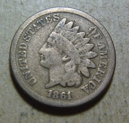 1861 Indian Head Small Cent (#01))