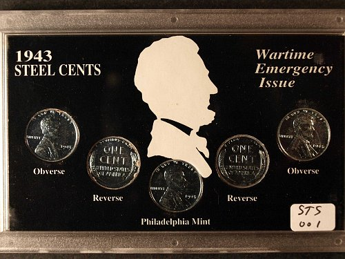 1943 Steel Penny set P- Mint