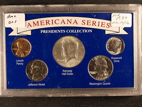 5 coin Presidential Collection