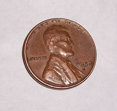 1957 D Lincoln Wheat Cent Small Cents