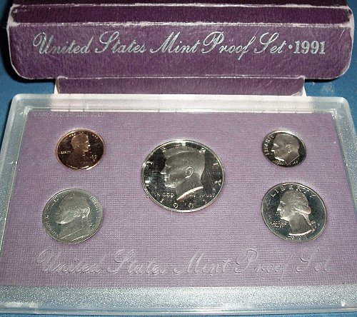 1991 PD Uncirculated Mint Set