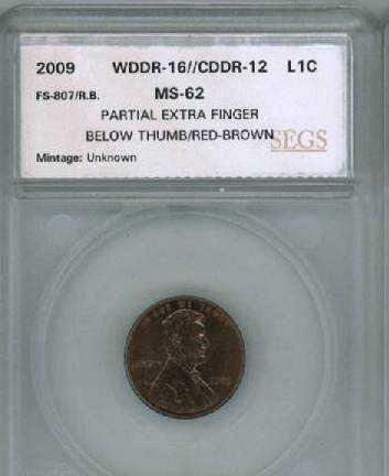 2009 1c WDDR-016/CDDR-012/FS-807 Six Fingers