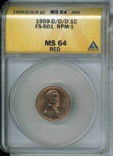 1959-D/D/D 1c FS-501 RPM-001/WRPM-001