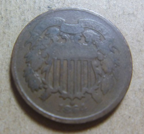 1864 Two Cent Large Motto (#04)