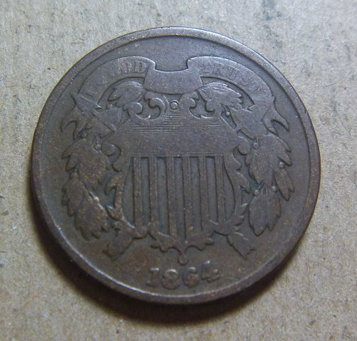1864 Two Cent Large Motto (#06)