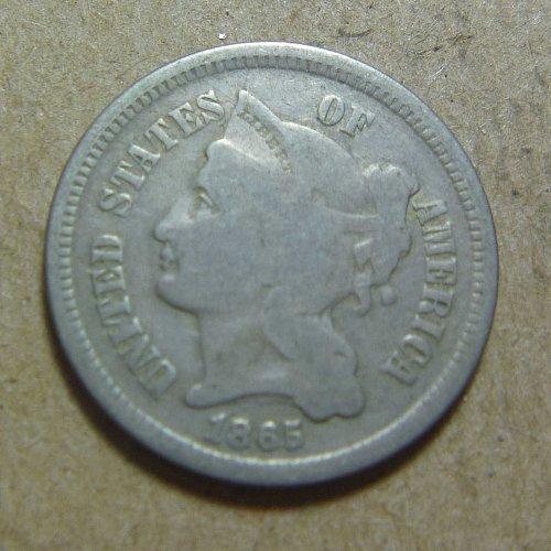 1865 Nickel Three Cent (#01)