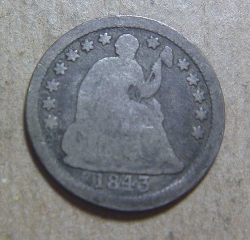 1843 Liberty Seated Half Dime