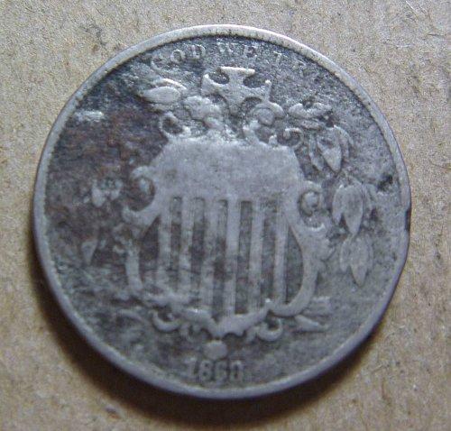 1868 Shield Nickel (#01)