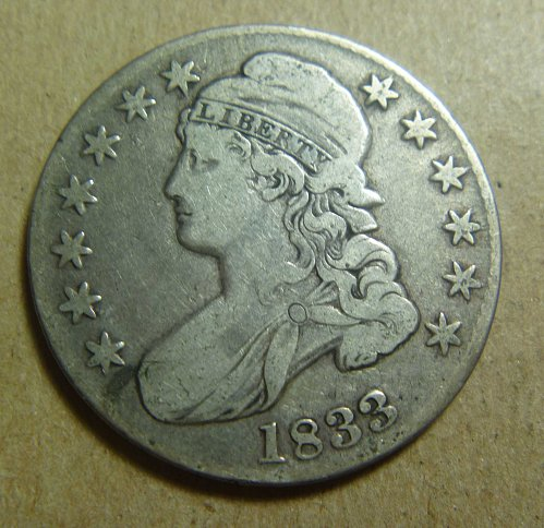 1833 Liberty Cap Half Dollar