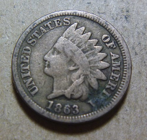 1863 Indian Head Small Cent (#03)