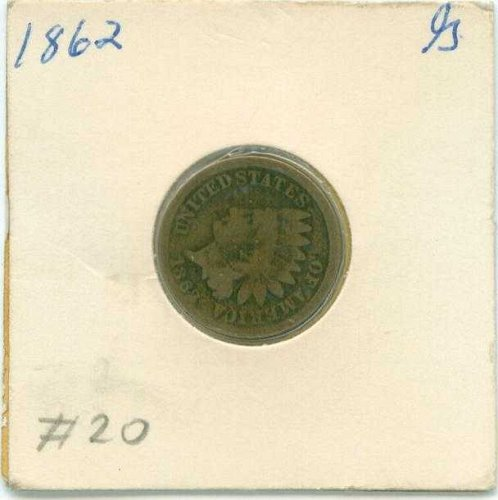 1862 Indian Head Penny