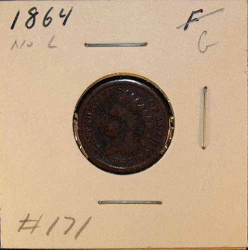 1864 Bronze Indian Head Penny