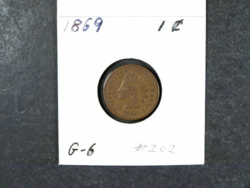 1869 P Indian Head Penny