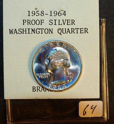 1964 P Washington Quarter
