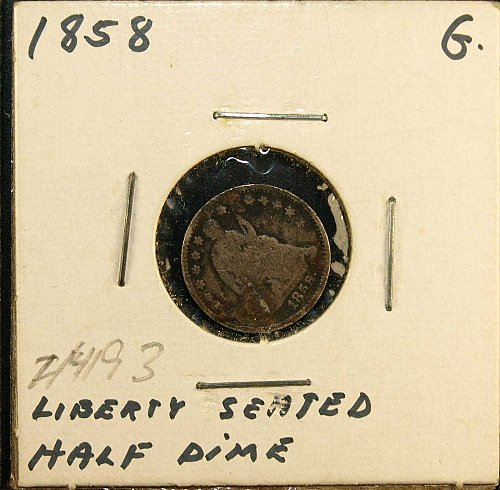 1858 P Seated Liberty Half Dime