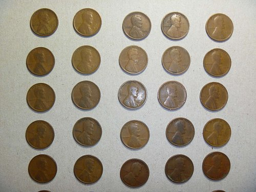 1918 Lincoln Wheat Cent - 25 coins