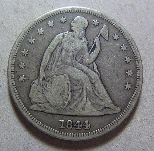 1844 Seated Liberty Silver Dollar (#01)