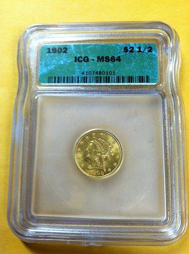1902 P $2.50 Quarter eagle