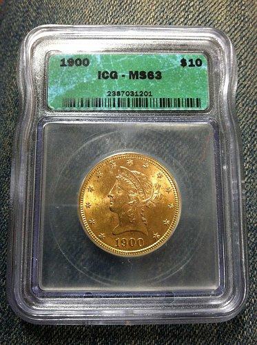 1900 P Coronet Head Gold $10