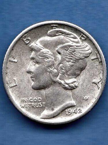 Mercury Head Dime 1942-D Silver US Coin Money