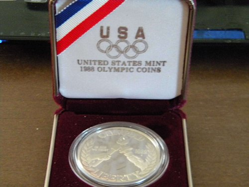 1988 olypic coin 90% silver 1 dollar