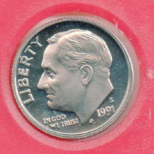 1991S Proof Roosevelt Dime