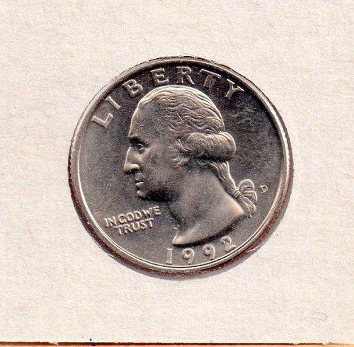 1992d BU Washington Quarter