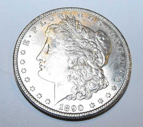 1890p ms63 Morgan Silver Dollar