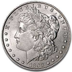 1898 P UNC Morgan Silver Dollar