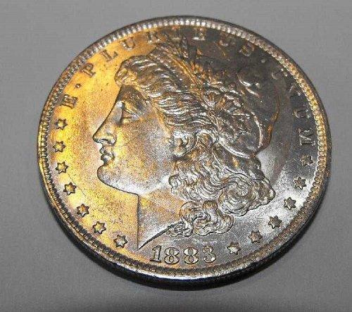1883o toned bu Morgan Silver Dollar