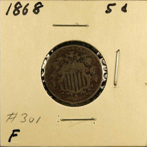 1868 P Shield Nickel