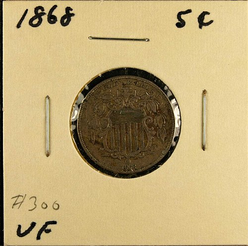 1868 P Shield Nickel